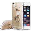 KOOLIFE Apple, 6 / 6с телефон оболочки мобильный телефон оболочки защитный рукав iphone6s кольцо держатель пряжки мягкой оболочки / Apple телефон оболочки 6 6 Выдерживает падение Apple, творческий мультфильм любителей окрашены оболочки сердца