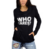 MyMei 2016 New Womens Sweater Knit Shirt Printing Letters Heaps Collar Hooded Sweater charter club 4286 new womens b w knit long sleeves pullover sweater top m bhfo