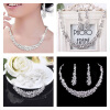 Фото MyMei Bridal Bridesmaid Wedding Party Jewelry Set Crystal Rhinestone Necklace Earrings