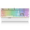 Лей Бай (Rapoo) V720 RGB полноцветный с подсветкой игровой клавиатуры механический игровой клавиатуры клавиатура с подсветкой клавиатуры компьютера клавиатуры ноутбука белый зеленый ось мышь rapoo n1162 белый