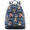 Гайки (Noix) NX-13722 сумки серии British медведь Мисс дорожная сумка холст плеча мешок студента рюкзак синий цена