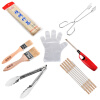 Еще хороший гриль гриль барбекю комплект открытый инструмент для барбекю, Ци Jiantao бамбука иглы на гриле пищи клип углерода клип щетки масла легкие перчатки