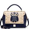 Когда Европа довольствуются (JUST STAR) сумка плечо сумки женщина нового дамы мода сумка мешок руки сумка тенденция Мэн интерес филин женщина JS92 синие чернила