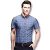 Новое поступление мужчин клетчатые рубашки 2016 модные мужские летние рубашки короткий рукав тонкий подходит свободного покроя рубашки 4 цвета плюс Размер 5xl рубашки