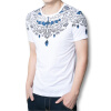 мужчины моды футболки 2016 короткие рукава рубашки не мужчин китайской национальной включен мужчин футболки черные белые люди случайные футболки белые футболки оптом спб