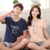[супермаркет] Jingdong Бейджи Ронг удобные с короткими рукавами пижамы пару пижамы мужчин и женщин домашние пижамы пижамы летние мужчины и женщины пижамы женщина B541106512-3 письмо M