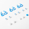 QCY QY19 комплект гарнитуры Bluetooth гарнитуры спортивного ухо крышка уха верхние ребра голубой акула