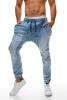 Новый Mens вскользь шаровары ретро Сыпучие хлопка джинсы