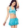 Poodle (puandy) купальник женский горячий весенний раскол маленький сундук сбор юбка купальник был тонкий купальник PWB03 синий XXL купальник женский animal ilsa bikini beige brown blue