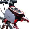 Le-hyun D-12813 велосипед сумка сенсорный экран седельная сумка горный велосипед передняя балка сумка мобильный телефон сумка упаковка оборудование аксессуары