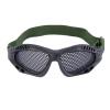 Новый тактический Открытый стальной сеткой глаз Защитные очки очки очки