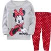 Детская одежда Комплекты для младенцев мальчиков пижамы костюмы для девочек Одежда Комплекты пижамы Дора / котенок / пижамы 100% хлопок рубашки набор + брюки