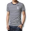 мода на период до 2016 года летом мужчины, футболки - шею полосатый футболки моды слим подходит случайный хлопок mens футболки горячей продажи новых футболок футболки jenks