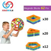 62 предметов дети детей DIY магнитных блоков 20pcs треугольник 30pcs площади 12pcs pentagontoys 2D 3D - магнитные многокомпонентного кирпичи nobrand 30 154 62 0