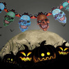 MyMei 2016 New Hot Paper Chain Garland Halloween Paper Decorations Pumpkin Ghost Skull Shape Halloween Props For Halloween Party