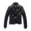 Men's leather jacket long sleeve autumn witer clothing genuine sheepskin short coat real leather the newest style