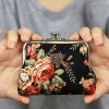 MyMei New Style Women Girls Floral Clasp Coin Purse Cards Case Flowers Print Wallet american super hero batman pu short zero wallet coin purse with interior zipper pocket