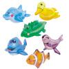 Bestway надувное животное маленькая комбинация игрушек крокодил + утка + дельфин + морской лев + кит + тропическая рыба морепродукты рыба