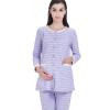 Любовь отцовство костюмы одежда материнство пижамы пижамы материнство одежда домашняя одежда костюм полоски сторона открытая M304 фиолетовый XL