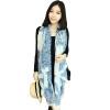 (MSEK) WSJ13995 Женский шарф корейской версии балийской пряжи шарф для кондиционирования воздуха синий и белый фарфор синий шарф givenchy синий