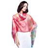 Г-жа Бум Cheung шелк шарф шифоновый шарф удлиняется двойной кондиционер шаль шарф красные розы s9122