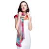 [Супермаркет] Jingdong Г-жа Бум Cheung шелковый шарф шифоновый шарф удлиняется двойной кондиционер шаль шарф Blue Rose s9123