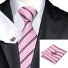 N-0212 Vogue Мужчины шелковый галстук Комплект Галстук носового платка Запонки Галстуки Набор для мужчин формальной свадьбы Бизнес оптом галстуки