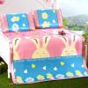 Джиужоу оленей мат текстильной печати шелк льда коврик из трех частей складная двуспальная кровать спальный коврик коврик коврик розовый кролик 1,5 м кровать коврик