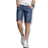 мужчины деним шорты, прибывающих людей моды шорты 2016 летом голубой мужчин джинсы шорты случайные слим подходит плюс размер шорты 38 горячая продажи шорты