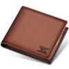 Семь волков (SEPTWOLVES) первый слой поперечного сечения бумажник карты пакет короткий параграф кожаный мужской деловой случай мужской черный кошелек 3A1754085-01