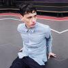 где купить рубашка с длинными рукавами viishow европейская и американская мода с длинными рукавами рубашка мужская светлая дикая рубашка CC15661 синий XXL код по лучшей цене