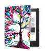 Фото Van Gogh Design leather cover case Lighted Slim Leather Cover for 2014 kobo aura h2o 6.8'' ereader smart cover case luxury smart case