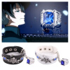 MyMei Anime Black Butler Kuroshitsuj Ciel Bracelet with Ring Chain Cosplay Costume New hot anime anime black butler set of 2x 4 ciel
