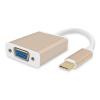 Золотой (Цзиньдин) JD201 Type-C VGA конвертер / адаптер поддерживает конвертер USB3.1 VGA Apple, новый Macbook линию, соединяющую интерфейс кабель монитора HD проектор многопортовый адаптер apple usb c vga