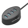 Shanze (SAMZHE) JXQ-T77 USB-разветвитель 4 элегантной моды высокоскоростной концентратор USB 3.0 концентратор расширен таблетки настольного ноутбука черный 1,2 м