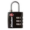 М сайт MasterLockTSA таможенного замок багаж шкафчики регулируемого черный висячий 4680MCND