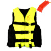MyMei 6 Sizes Swimmwing Boating Polyester Adult Life Jacket Foam Vest Survival Suit with Whistle for Swimming Drifting Device+Whis survival reflective bracelet w whistle black