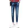 (MSEK) мужские джинсы джинсы корейский стрейч Slim NZK3618 светло-голубой 36