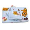Легко Детеныши (Rilakkuma) Класс полотенце текстильной хлопка марли ребенок милый мультфильм квадратные полотенца, махровые полотенца 3 комплекта детей городских белый желтый