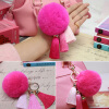 MyMei Touch Soft Rabbit Fur Ball PomPom Car Cell Phone Pendant Handbag Key Chain Ring warm and soft artificial rabbit fur ball elastic hair bands ball of fur hair rope band hair accessory rubber band