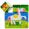 Мудрость коня большие шашки игрушки Детские кубики развивающие деревянные игрушки кубики животные