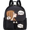 Когда Европа удовлетворена (JUST STAR) сказал, что магия пузыря серии модных сумок плечо сумка печать нового рюкзак отдых дорожной сумка Schoolbag JS947L полночь черного