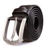 Ремень из ремня для ремня для мужчин с длинным рукавом Мужская пряжка для мужчин Мужская кожа NP1330 Deep Coffee