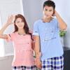 Арктическая кашемир с короткими рукавами пижамы удобная пара пижамы домашняя мужская и женская пижама домашнее обслуживание летние мужчины и женщины пижамы B541106512-3 алфавит женщина M