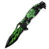 Открытый пещерные коллекции складной нож ведущих анти-деньги Походный нож тактический нож самообороны нож многофункциональный открытый нож выживания CM8012 зеленый