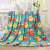 Ю. Тонг хлопковых одеяла супер мягкие короткие плюшевые детские детского одеяла детского одеяла одеяло ворса детские одеяла сова племенные 127 * 152см