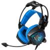 (Sades) Дьявол Красочные светящиеся игровые наушники (черный синий классический) Наушники Genesis Наушники Наушники наушники