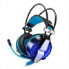 Поскольку Чжо (KOTION КАЖДЫЙ) GS700 одиночный штекер синий версия черный бас гарнитура наушники с микрофоном ноутбук микрофон гарнитуры