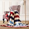 (Byford) одеяло толстое коралловое шерстяное одеяло двойное осеннее и зимнее сонское кондиционирование одеяло полотенце было фланелевое одеяло 2 * 2,3 метра полосы одеяло зимнее
