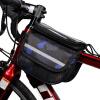 ROSWHEELвелосипедная сумка, сумка для седла горного велосипеда, сумка переднего лонжерона для езды на велосипеде